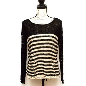Charming Charlie Sweater Womens Size M Black Gray